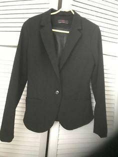 Ladies/womens New Look Black Blazer Jacket Size 10 #NewLook #Straight