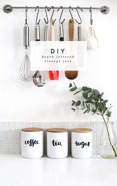 personalised storage jars tutorial | the lovely drawer