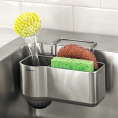Sink Caddy, Sink Sponge & Brush Holder,  Sponge Rack | Solutions