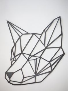Steel Geometric Fox Wall Art by FactoryCustomFab on Etsy