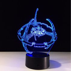 Star Trek DS9 3D Illusion Multicolor LED Night Lamp      http://ali.pub/1fz3la Table Lamps For Boys Kids Toys Gift Home Living Room Desk Decor