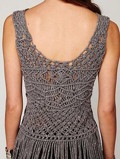 macrame clothes - Google Search, Macrame Graphic Tank Fringe. Pinned from. freepeople.com