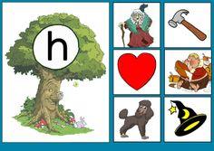 * Sprookjesboom: Letterkaart H