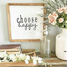 13x13 Choose Happy Wood Sign,Home Décor,Rustic Quote Sign, Gift Ideas,Wall Art,Industrial Modern Decor,Farmhouse Signs,Inspirational Signs by CraftMeUpDecor on Etsy https://www.etsy.com/listing/520349957/13x13-choose-happy-wood-signhome