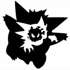 Gengar Evolution Vinyl Decal by FrIssacsCreations on Etsy Gengar Tattoo, Pokemon Tattoo, Tribal Symbols, Tribal Art, Evolution Pokemon, Ghost Type Pokemon, Zelda Tattoo, Pikachu, Splatter Art