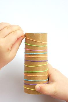 Fine motor cardboard tube challenge for kids - Laughing Kids Learn Fine Motor Activities For Kids, Motor Skills Activities, Toddler Learning Activities, Sorting Activities, Gross Motor Skills, Montessori Activities, Infant Activities, Kids Learning, Fine Motor Activity