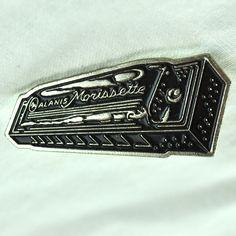 Alanis Morissette Harmonica Lapel Pin Concert Merch Vintage Blues Harp Pinback