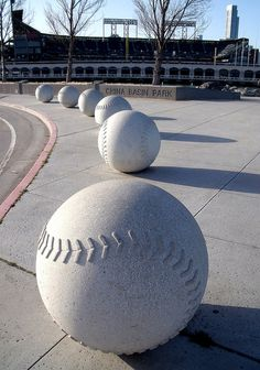 GIant Baseballs near Willie McCovey Statue at AT& T Park, San Francisco Baseball Park, Baseball Mom, Baseball Field, Baseball Season, San Francisco Giants Baseball, My Giants, Great Team, Sandlot, Sports