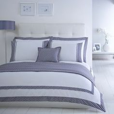 cce697c137c J by Jasper Conran Designer white  Grosvenor  bed linen- at Debenhams  Mobile Looks