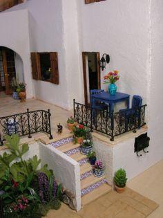 Mediterranean Villa Doll House - Casa de Pavo | Nature's Soul Miniatures