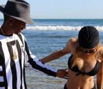 Naya Rivera Hits The Beach With Fiance Big Sean….And MUCH Larger Boobs - YuckSauce.Com #WTYuck - http://yucksauce.com/naya-rivera-hits-the-beach-with-fiance-big-sean-and-much-larger-boobs/