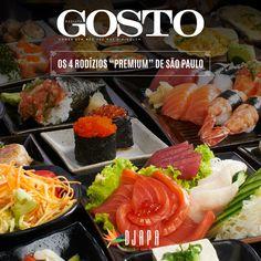 """A Revista O Gosto elegeu o Djapa como um dos 4 rodízios """"premium"""" de SP, acompanhado de grandes feras da culinária japonesa: Mori Sushi , Kibô Sushi Itaim e Kappa & Kanashiro. É uma grande honra!"""