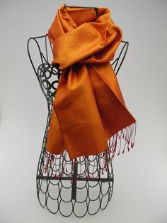 Fall Fashion - A timeless choice! Lboeuk scarf 100% fine silk, spun and handwoven, ethical and eco-friendly.