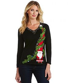 Adorable Santa Christmas sweater by Berek