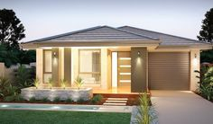 Image result for narrow lot single level small house