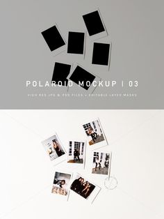 Polaroid Pile Mockup | PSD & JPG | blogger photos, styled stock photography, stock photo, polaroid photo, blog hero, hero image, graphic design portfolio, portfolio mockups