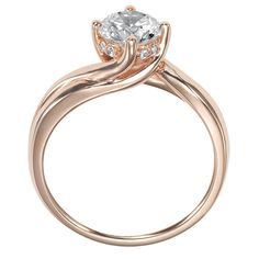 Whitney Solitaire Engagement Ring in Rose Gold