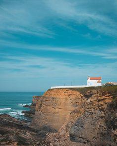 Church by the coast  #church #coast #portugal #hill #sky #ocean #sea #water #blue #calm #photography #photographer #fotografo #fotografia #nature #landscape #amazing
