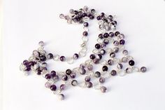 Silver Amethyst Necklace by Albinasjewelry on Etsy, $67.00