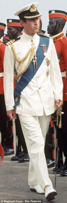 Prince Charles looking splendid in his Naval Uniform.