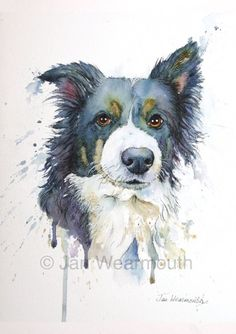 watercolor dog portraits - Google Search