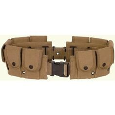UAG Tactical Khaki Tan 10 Pocket Utility Pouch Cartridge Ammo Tool Heavy Duty Cotton Canvas Belt    A little yellow Dye and this will make a perfect BatBelt