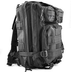 MFH Backpack Assault I 30L Trekking Military MOLLE Heavy Duty Rucksack Foliage