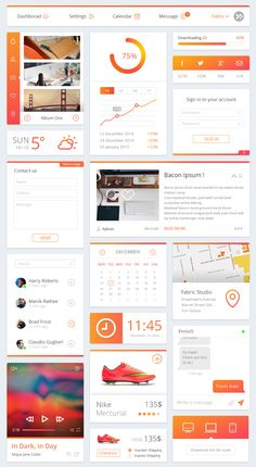 TweetSumoMe Friends, today's featured freebie is a set of free dashboard UI elements. This is a very clean and cool-looking UI kit containing various dashboard elements such as menu, profile, graph, social, sign-in, weather widget,