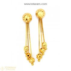 Indian Gold Jewellery Design, Gold Temple Jewellery, Mens Gold Jewelry, Gold Jewelry Simple, Diamond Jewelry, Jewelry Design Earrings, Gold Earrings Designs, Women's Earrings, Kids Earrings