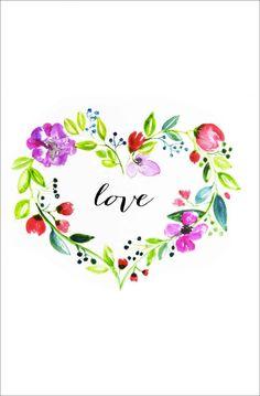 Valentines watercolor - 16 Free Valentine's Day Printables – Valentines watercolor Valentines Watercolor, Valentines Art, Vintage Valentines, Valentine Day Cards, Watercolor Heart, Watercolor Cards, Watercolor Flowers, Watercolor Paintings, Watercolors