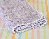 Soft Purple Crocheted Baby Blanket
