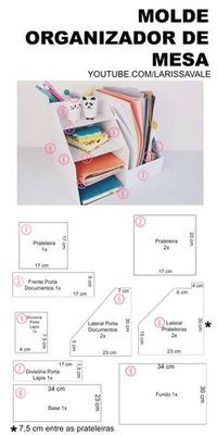 51 Super Ideas for desk organization diy cardboard craft rooms Desk Organization Diy, Diy Desk, Diy Storage, Diy Organizer, Craft Desk, Cardboard Furniture, Cardboard Crafts, Diy With Cardboard Boxes, Diy Karton