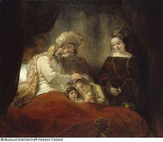 Jakob zegent Ephraim enManasse - Onlinedatabank van de Gemäldegalerie Alte Meister Kassel