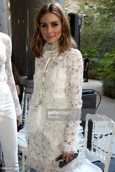 Olivia Palermo attends the Giambattista Valli Haute Couture Fall/Winter 2017-2018 show as part of Haute Couture Paris Fashion Week on July 3, 2017 in Paris, France.