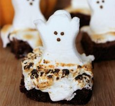 These fun and easy Haunted Halloween Ghost Brownies are sure to please all your guests both young and old. While the instructions include a scratch brownie recipe, feel free to use boxed, if that...