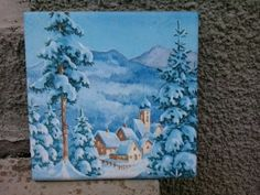 Christmas ideas piastrelle tiles decoupage ceramica