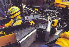 "itsbrucemclaren: "" Lotus 99T - Ayrton Senna 1987 Honda RA167E - Lotus 99T - Ayrton Senna """