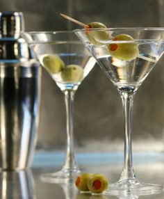 Is there anything better than a bone dry Bombay Sapphire martini with olives? ...Maybe a martini made with Hendrick's...