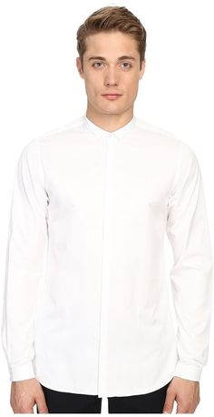 The Kooples Smart Twill Stand-Up Collar Shirt
