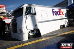 Slammed FedEx delivery van at #SEMA 2013