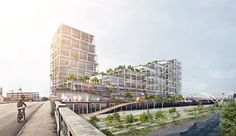 Image 3 of 33 from gallery of BIG Unveils Mixed-Use Concrete Superstructure for Los Angeles' Arts District. Photograph by BIG