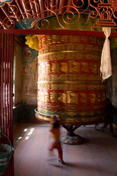 Prayer Wheel @ Bouddhanath Stupa, Kathmandu, Nepal