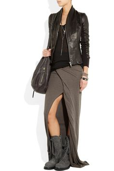Visions of the Future: Rick Owens Distressed-leather combat boots - THE OUTNET