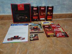 #ChocolatistaNestlé Soy chocolatista a tope por eso estoy dentro de la campañaNestlé y en estas semanas voy a probar las variedades más ricas del mercado. 4 tabletas relleno coulant, 3 packs de kitKat el original y el blanco, 1 tableta de Milkybar galleta, 1 caja roja Dark Sublime y  1 cupón para cajear totalmente gratis por una mousse Nestlé Gold.