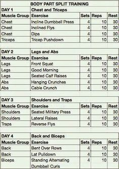 Free Exercise Chart Or MS Excel Use This Template To Create Your