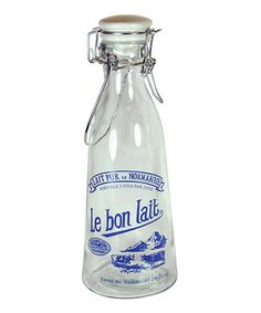 Another great find on #zulily! 'Le Bon Lait' Mini Milk Bottle by Grant Howard #zulilyfinds