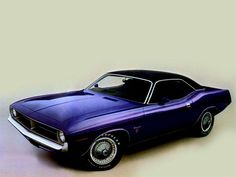 1970 purple Plymouth Barracuda, I had a hotwheels exactly like this but a convertible with the top down.