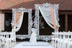 Оформление президиума Wedding Ceremony Arch, Wedding Stage, Wedding Backdrops, Event Planning, Wedding Planning, Greek Decor, Flower Festival, Creative Crafts, Event Decor