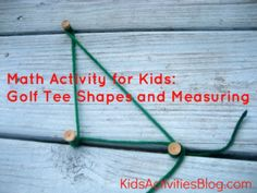 I LOVE this !! Math for Kids: Making Shapes