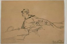 Sketch of Andrew Craig Sailing at Annisquam by Winslow Homer